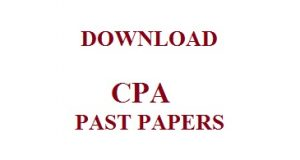 CPA FREE PAST PAER DOWNLOAD
