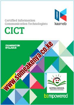 CICT notes, CICT Revision kits, PART I, SECTION 1, Introduction to Computing, Computer Applications – Practical, Entrepreneurship and Communication, SECTION 2, Operating Systems – Practical, Principles of Accounting, Computer Support and Maintenance, PART II, SECTION 3, Database Systems, System Analysis and Design, Structured Programming, SECTION 4, Object Oriented Programming, Web design and e-Commerce Data Communication and Computer Networks (Practical), PART III, SECTION 5, Strategy, Governance and Ethics, Software Engineering, Mobile Application Development, SECTION 6, Systems Security Information Systems Project Management, Research Methods